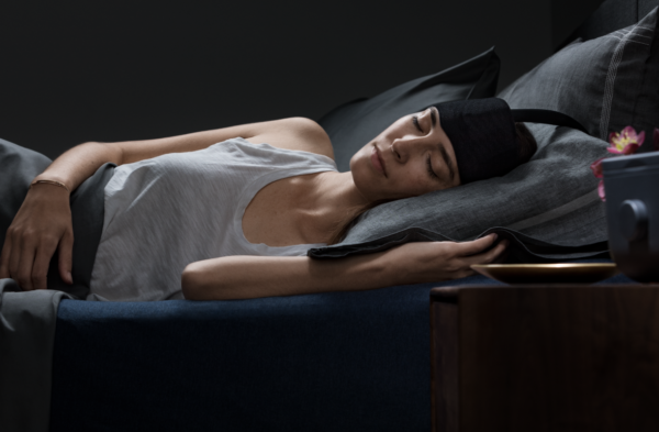 woman wearing Ebb insomnia therapy