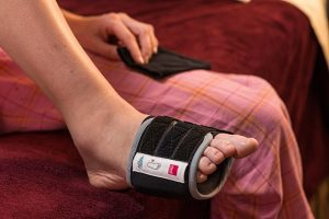 restiffic foot wrap on foot