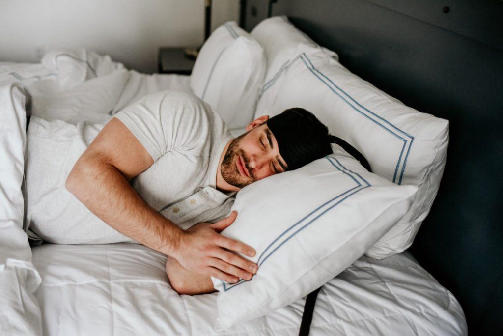 man sleeping with Ebb